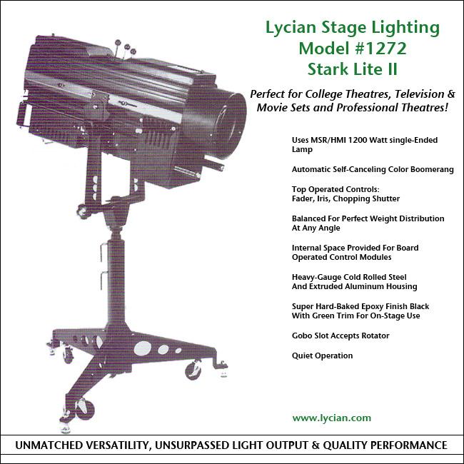 Lycian Model #1272.  sc 1 st  Lycian Stage Lighting & Lycian Stage Lighting | Followspot - Professional Model #1272 azcodes.com
